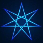 Seven pointed star blue