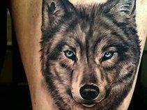 Sick Tattoo of a Wolf