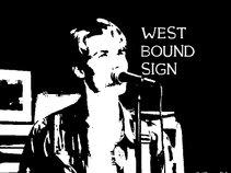 Westbound Sign