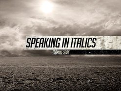 Image for Speaking in Italics