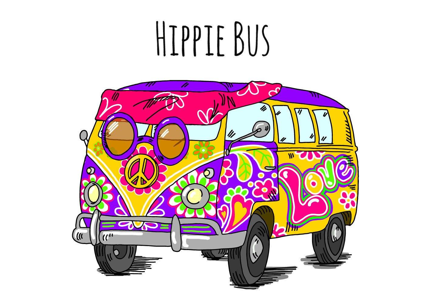 картинки хиппи автобуса карте это