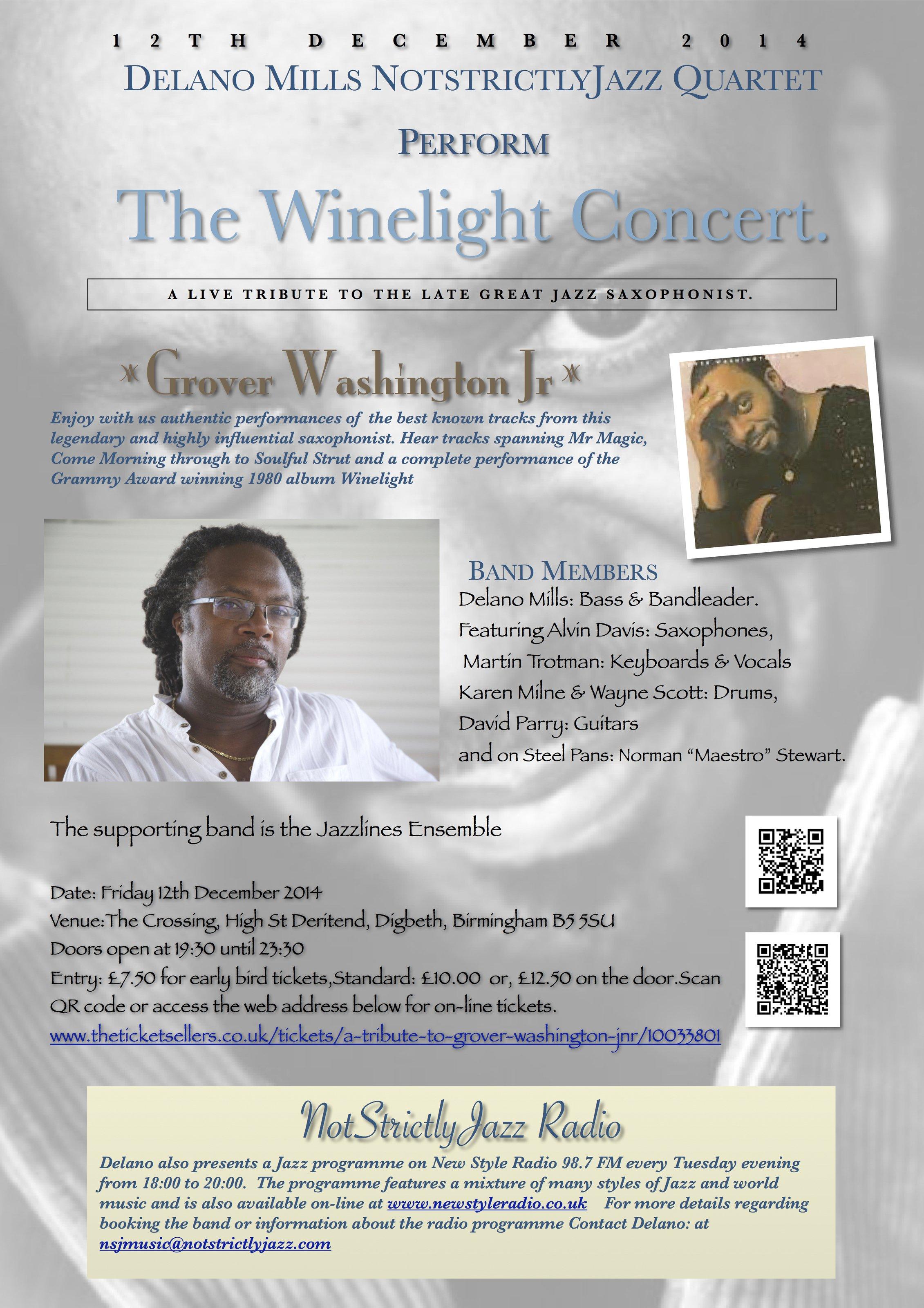 Winelight Grover Washington Jr Tribute Reverbnation