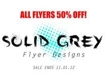 Solid Grey Flyer Designs