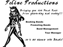FELINE PRODUCTIONS, Booking, Promotion, Band and Tour Mgmt.