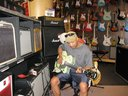 Testing out gear at the Guitar Centre, LA, Cali....