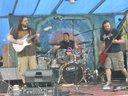 Sun Pillar playing at Lost Creek Jubilee 2012 - It was wet n wild!