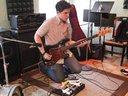 Desi jamming on bass