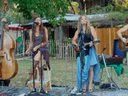 The Porch Girls perform in Topanga Canyon late summer 2012