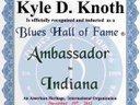 Blues Hall of Fame Ambassador to Indiana