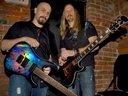 Tony & Johnny with their Spear guitars!