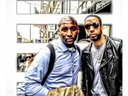 Shel and Ryan Leslie Headed to the studio 44st NYC