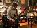 Charlie Crane, lead guitar, recording session at Transistor