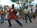 Nathi dancing with the Villagers