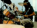 George Koumantzelis of AEOLIAN KID at the drums at SEEDS OF SOUND