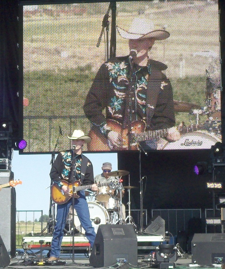 Cale on stage at The Watershed Festival at The Gorge
