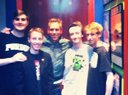 The guys with Eric Johnson at the Pop Machine in Indianapolis.