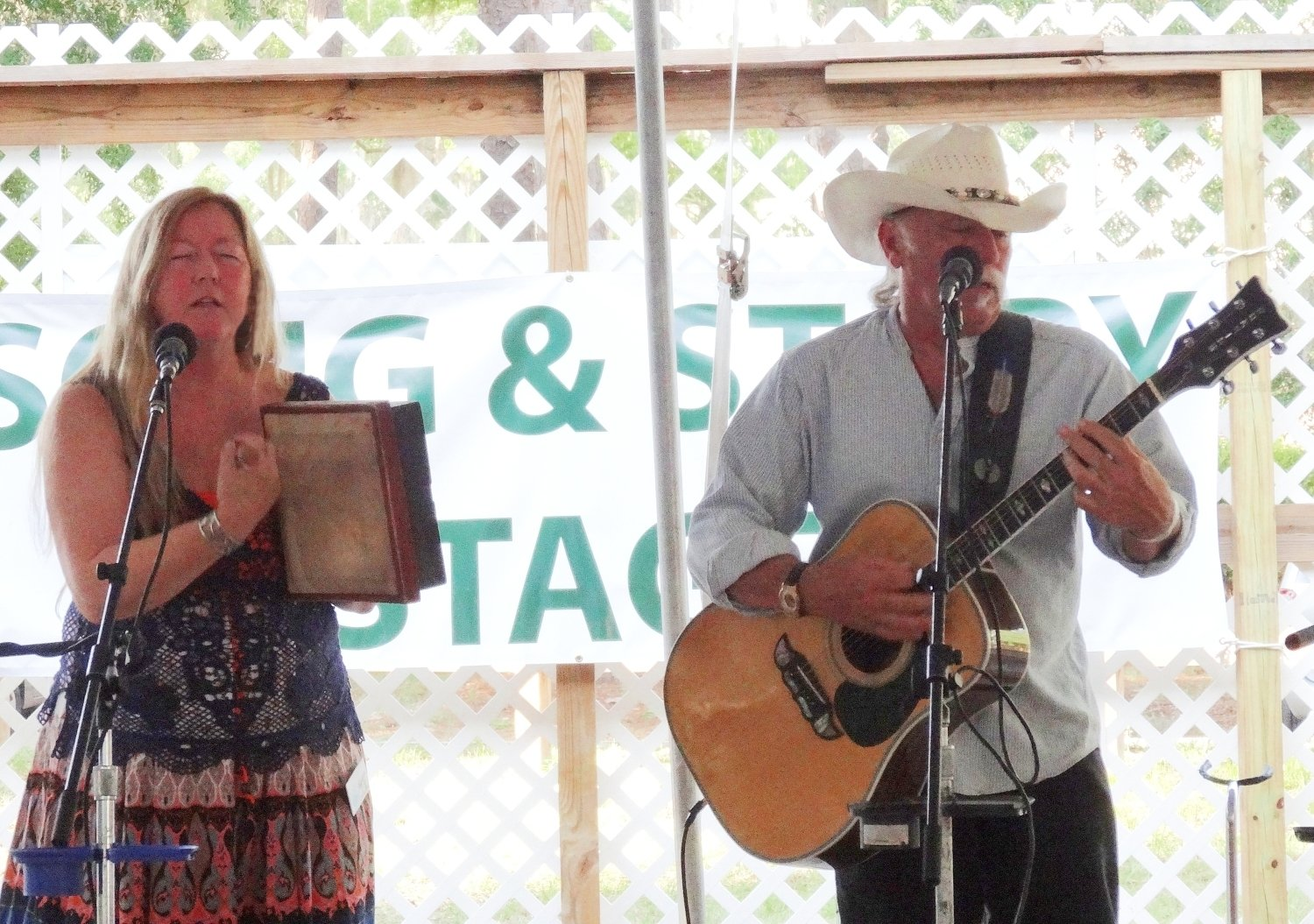 Lucky Mud at the 2013 Florida Folk Festival's Song and Story Stage.