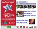 July 4th flyer for the Jax Landing