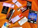 Our collection of tickets from all our shows, not bad!