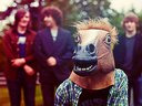Seeberger in a horse mask