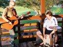 Rick and me, playing at Lake Robinson.