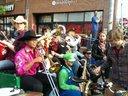 brass band on bike pedicabs