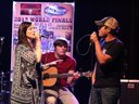 """Singing our duet """"Up In Smoke"""" with Jason Wyatt of The Lost Trailers"""