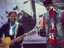 """Vibe'N on stage with """"April Benson"""" at the Conquer booth in the Greensboro Coliseum. #GetConquer"""