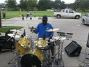 MOSES ON THE DRUMS DOING HIS THING