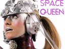Kim Manning is Space Queen. Photo by Adrienn Recio, Body Paint by Malcolm Stuart, headress by Robin
