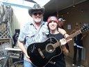 Josh and his Michigan guitar hero, Ted Nugent. (Tampa, FL) 05/04/2013