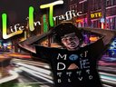 "Cover for ""L.I.T. Life In Traffic"" mixtape by Moogie"