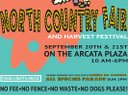 Elhadji Baay Faal on the plaza stage at the North Country Fair in Arcata, CA @ 4:45 pm