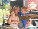 Drummer Bill's biggest fans - Granddaughter AVA and Grandson Mr. P. @ 2013 Car Show gig.