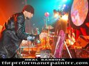 painting live onstage during the claypool hatters ball 07