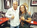 me and  r&b/soul legend lenny williams at the radio station.