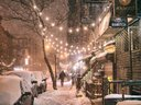 Snow in NYC's  lower east side