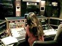 Lisa in the mixing studio