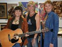 (L to R) Joan Enguita, Linda Geleris & Trish Lester at OutWest in Old Town Newhall, CA