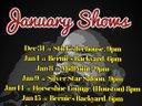 January 2016 shows