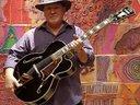 Wayne Wesley Johnson with his D'Angelico EXL-1 at Eldorado Hotel, Santa Fe.