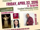 Live Show Feature - April 22, 2016 at 8pm - Freedom Fellowship Church, Woodbridge, VA 22193