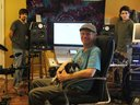 In the studio with producer Bob Prong