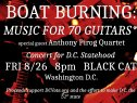 FRI 8/26/16 - BOAT BURNING: MUSIC FOR 70 GUITARS @ Black Cat - Concert for the 51st state