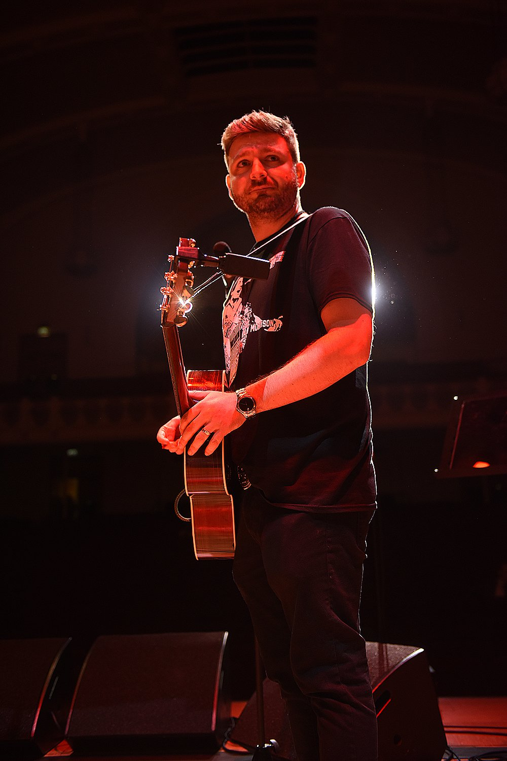 Peter Donegan on stage at London's Cadogan Hall