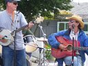 Les & Don @ The Sooke Chili Challenge. A strong wind later came from behind us.