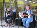 Dixon Beach Duo at Zuzaks on Mainstreet Boonville for Pedaler's Jamboree 2011