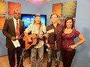 Mark Johnson and Hunter Price with the Daybreak crew, WGMT, Chanel 41, Macon, GA