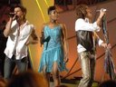 Devin on stage with Fantasia and Steven Tyler of Aerosmith (2006 Grammy Awards)