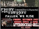 Gemini Syndrome/Fight For The Lost OCTOBER 21ST $10 @ DOOR. Show at 7pm AFTERSHOCK BAR